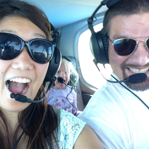 Jeff Jorgenson, founder of Open AIr Flight Club and his family having fun taking flight.