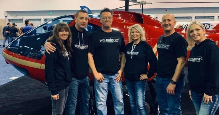 team members from helicopter online ground school